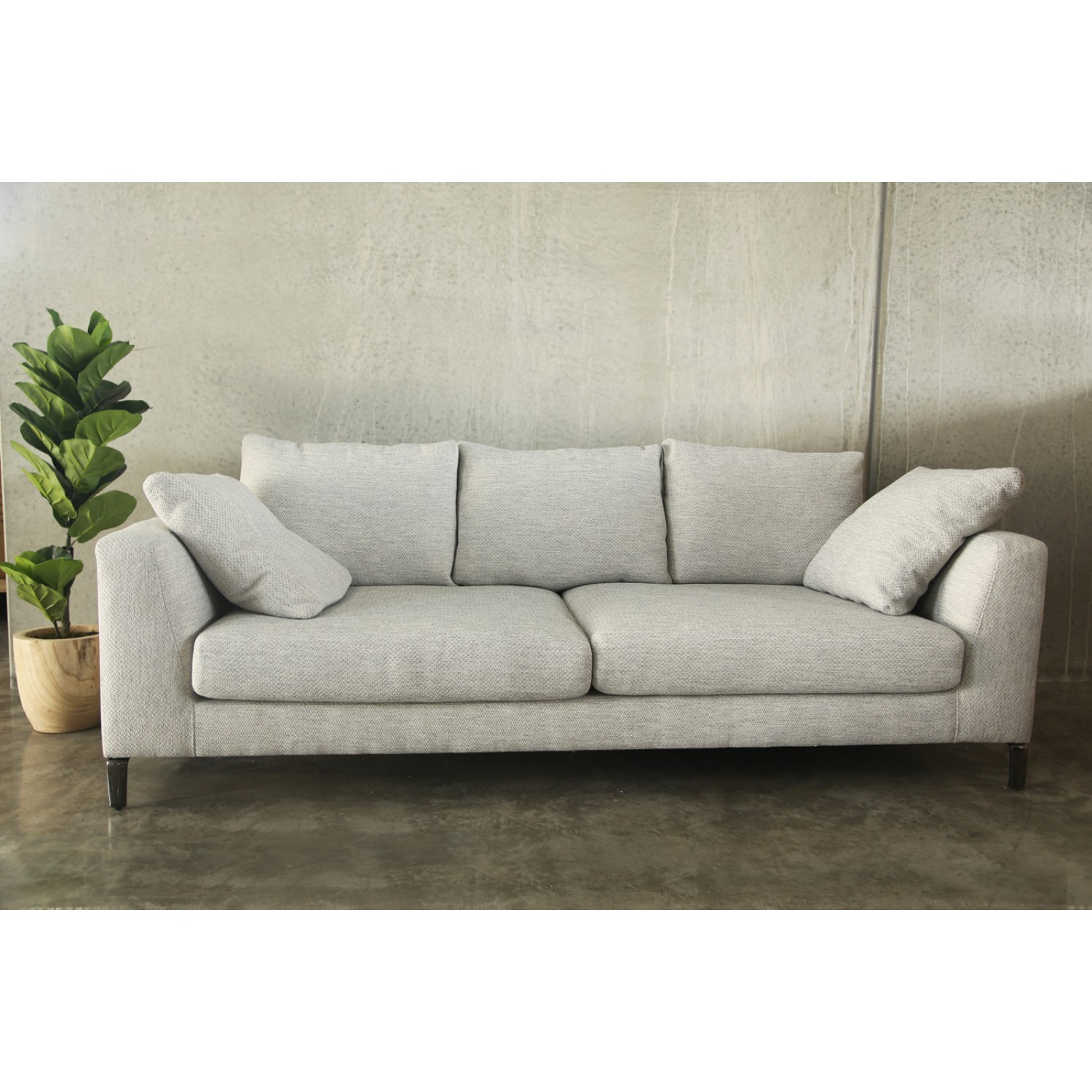 Get Comfy Going With Fabric Sofa