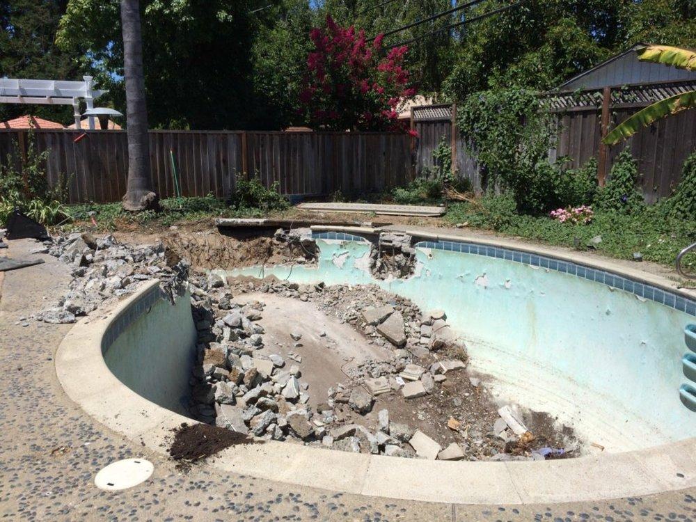 pool removal work