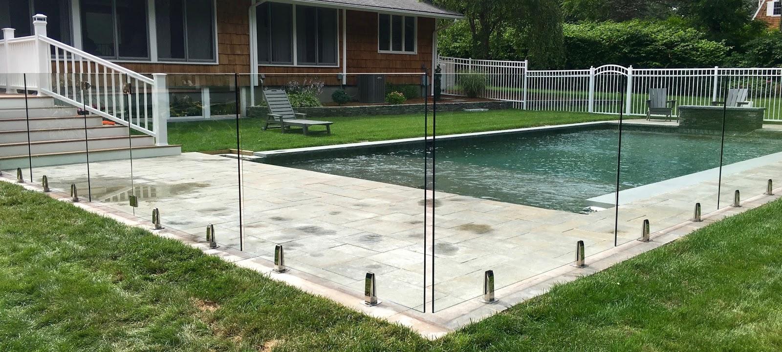 frameless pool fence