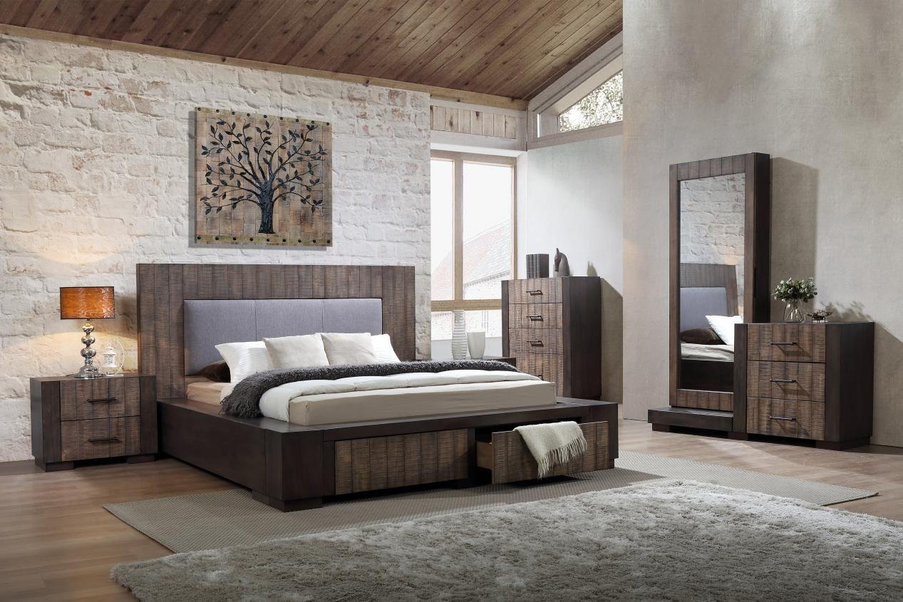 timber queen bed frame