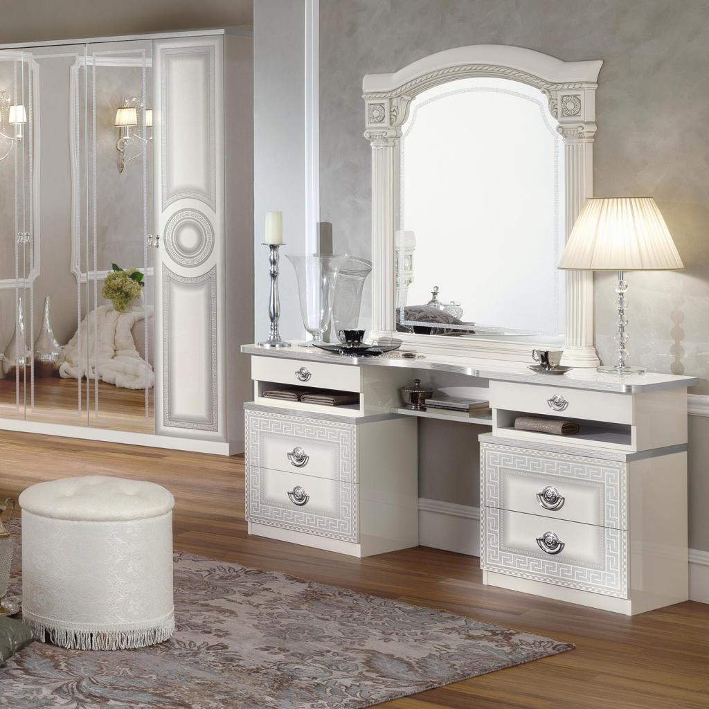white dressing table mirror