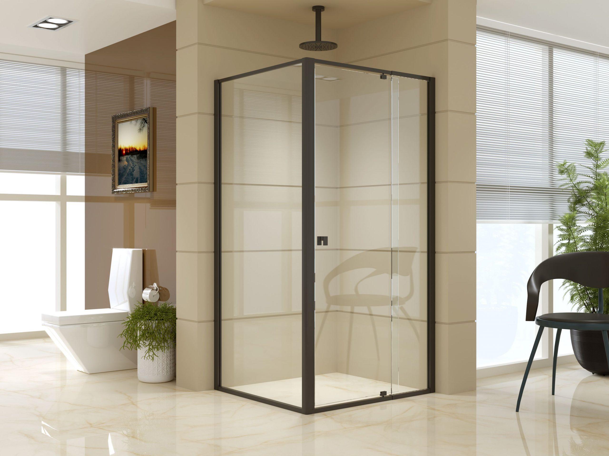 semi framed shower screen