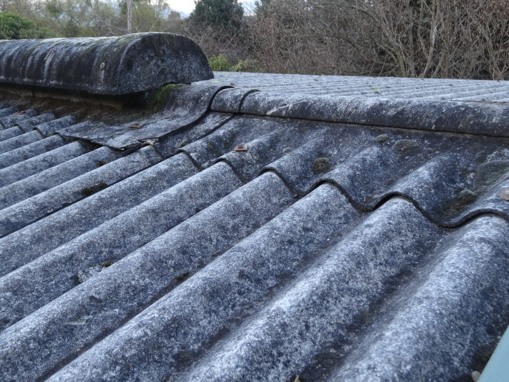 Asbestos roofing removal